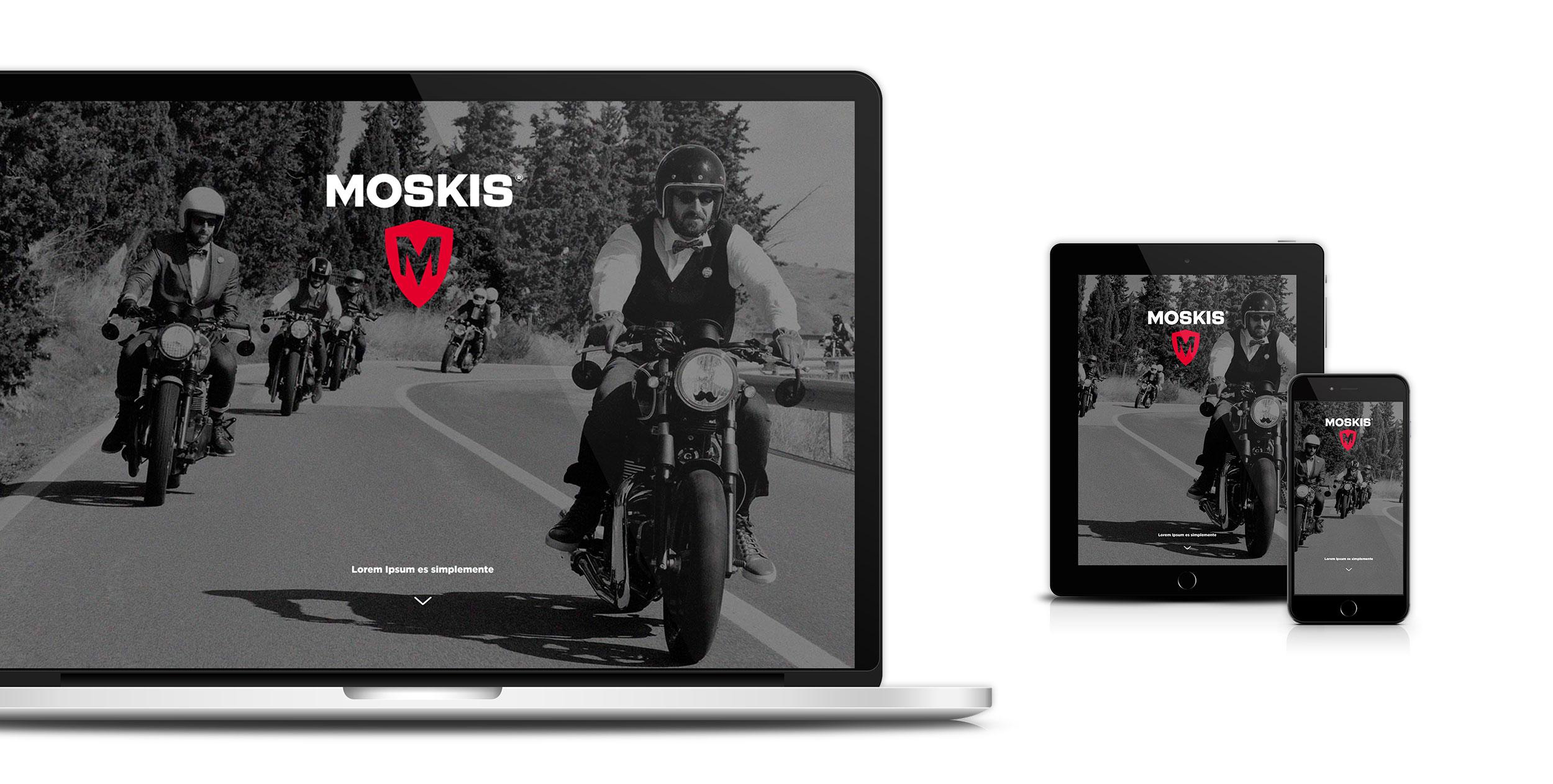 diseño de marca en una web